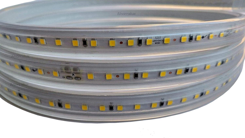 imperm/éable Blanc froid//neutre//chaud IP67 2M Blanc chaud bande LED de 220/V 2835/120/LED//M haute luminosit/é avec interrupteur