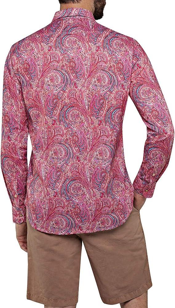 Replay M4953 L//S Paisley Print Shirt Pink
