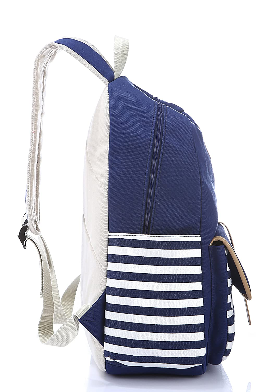 HAPPYTIMEBELT Stripe Design Student Book Bag Children School Backpack BP001-Pink