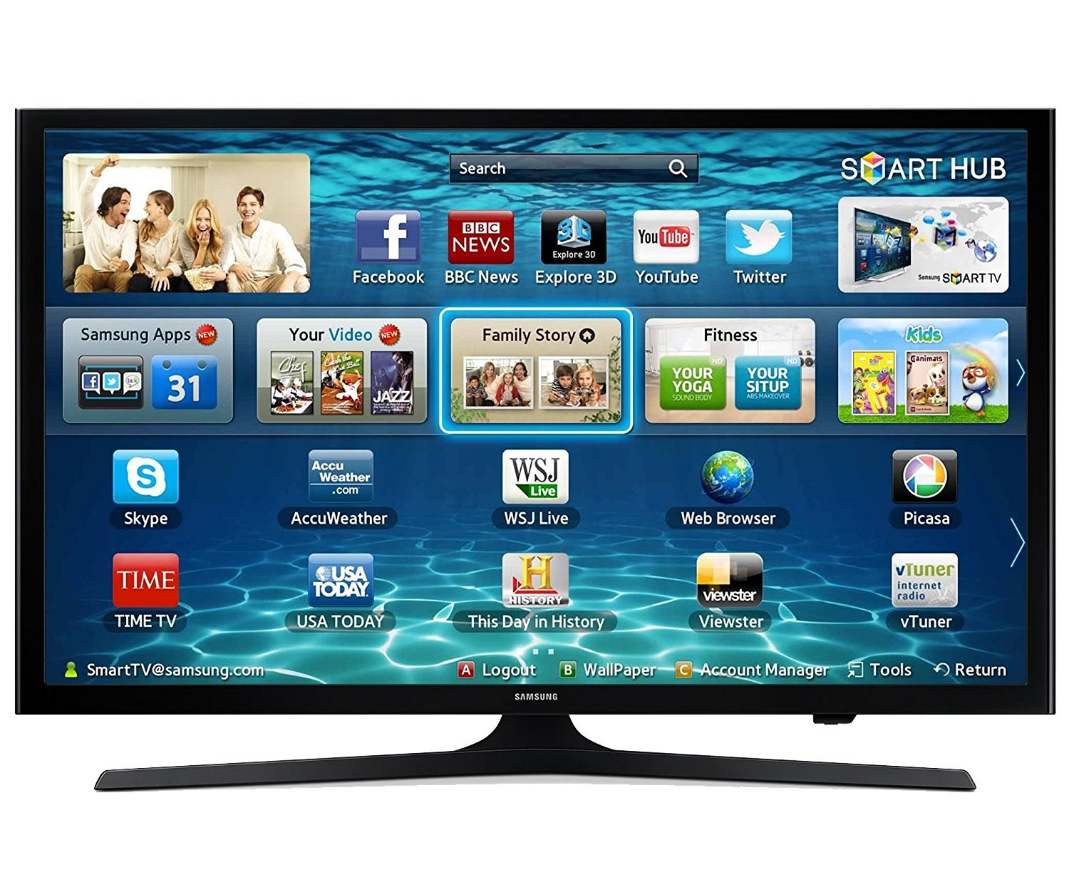 Samsung 40'' Class 1080p Smart LED HDTV with Full Web Browser