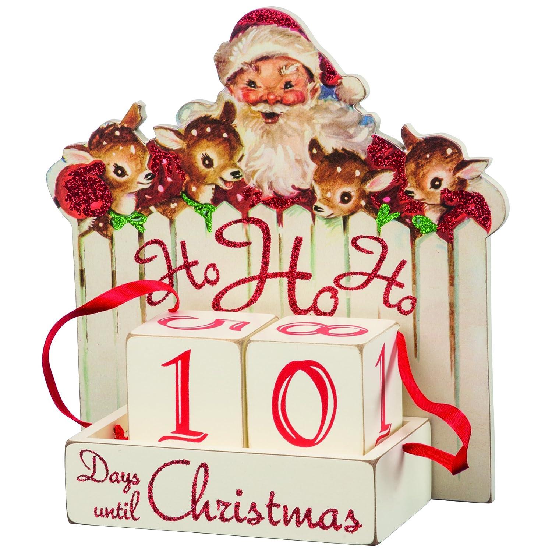 Primitives by Kathy Vintage Christmas Wood Countdown Box, Ho, 32277
