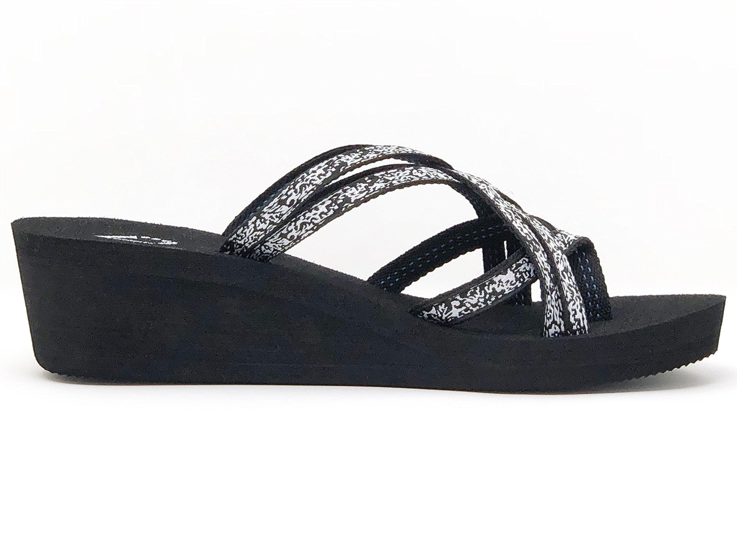 Viakix Wedge Flip Flops for Women – Comfortable, Stylish, Cute, Women's Strappy Sandal for Walking, Beach, Travel by Viakix (Image #3)