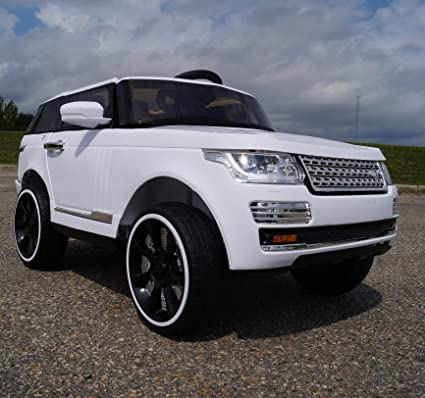 White Land Rover >> Lr Range Rover Style Rov Sc6628 Supercharged Electric Ride On Car Toy For Kids White