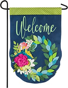Evergreen Flag Flower Garden Burlap Garden Flag - 12.5 x 18 Inches Outdoor Decor for Homes and Gardens
