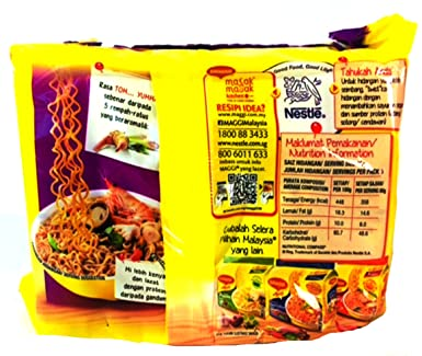Maggi 2 Minute Noodles Tom Yam Flavour 80g Pack Of 5 80g X 5
