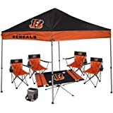 NFL Hall of Fame Tailgate Bundle - (1 9X9 Canopy, 4 Kickoff Chairs, 1 16 Can Cooler, 1  Endzone Table)