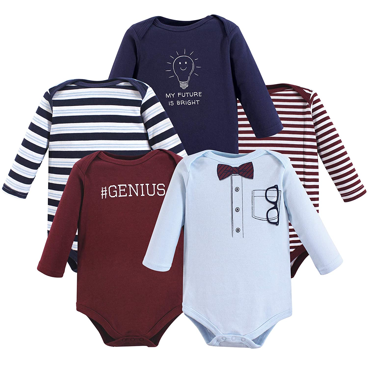 卸売 Little Treasure SHIRT 5pk ベビーボーイズ ユニセックスベビー B07JGRG1VM Genius Sleeve 5pk Long Treasure Sleeve 9-12 Months (12M) 9-12 Months (12M)|Genius 5pk Long Sleeve, テシカガチョウ:fdb58b56 --- arianechie.dominiotemporario.com