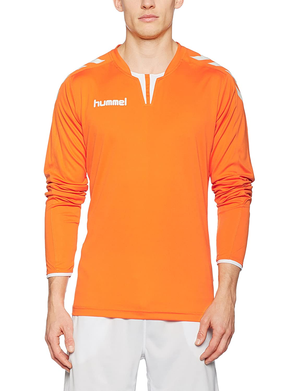 HummelメンズCore Long Sleeve Jersey B01AOOTTTY Small|オレンジ/ホワイト オレンジ/ホワイト Small, 天童市 7c3ad269