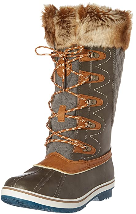 Image Unavailable. Image not available for. Color  Kingshow Women s  Globalwin 1715grey Camel Waterproof Winter Boots ... bf3d1f807c0d