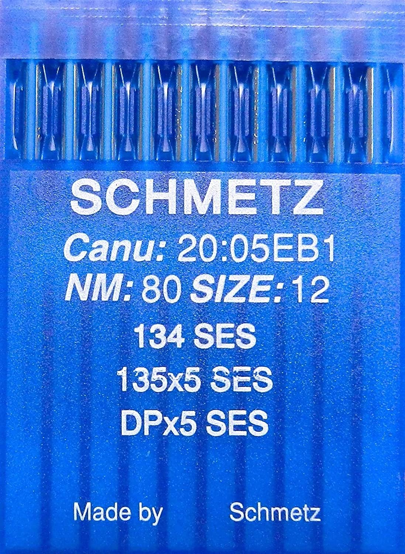 Schetz 10 134 SES - Máquina de coser (punta redonda, grosor 80/12 ...