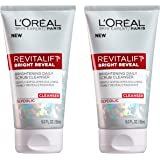 L'Oreal Paris Skincare Revitalift Bright Reveal Facial Cleanser with Glycolic Acid, Anti-Aging Daily Face Cleanser to Exfolia
