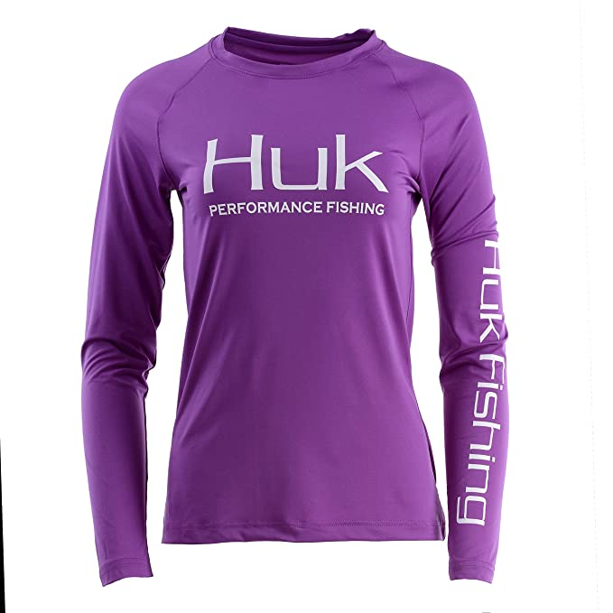 62964597c Amazon.com: HUK Women's Pursuit Vented Long Sleeve Shirt: Clothing