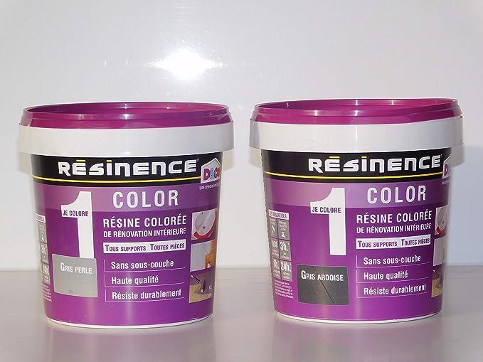 Résinence Color Résine Colorée De Rénovation Intérieure 0,5L (Noir Satin):  Amazon.fr: Bricolage