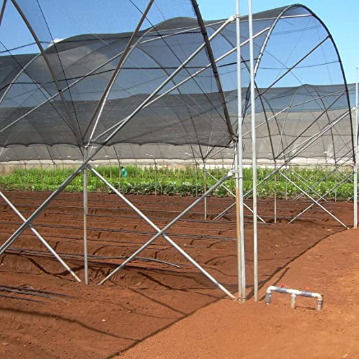 Agfabric 50/% Sunblock Shade Cloth 6x10ft Black Free clips for Plant Cover