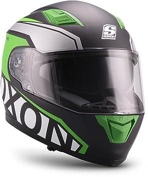 Soxon, Casco de Moto, Verde, tamaño XXL (63 – 64 ...