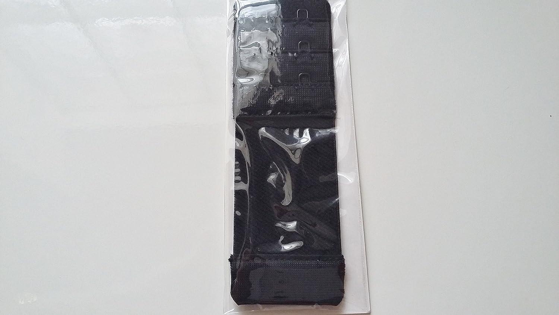 Prolunga elastico Dos Reggiseno 2/Ganci 3,5/cm di larghezza 11/cm di lunghezza colore nero estensione prolunga flessibile senza cuciture comoda pratica per Lingerie Bustiers biancheria intima