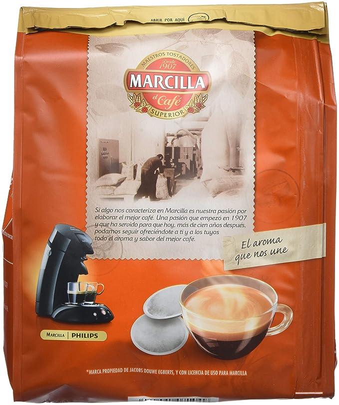 Café molido de tueste natural en monodosis. Marcilla Gran Aroma