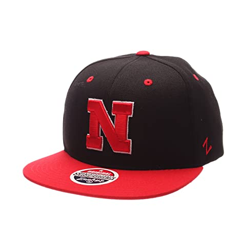 01cce323999 Image Unavailable. Image not available for. Color  ZHATS NCAA Nebraska  Cornhuskers Adult Men Z11 Snapback Hat ...