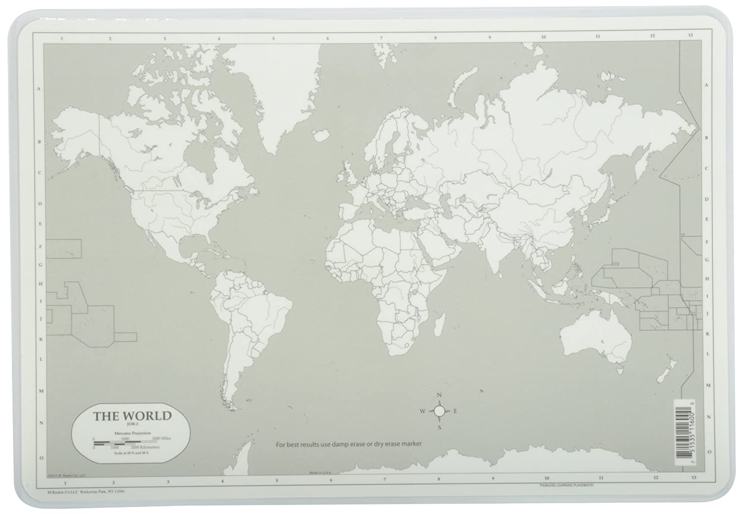 Amazon painless learning world map placemat home kitchen gumiabroncs