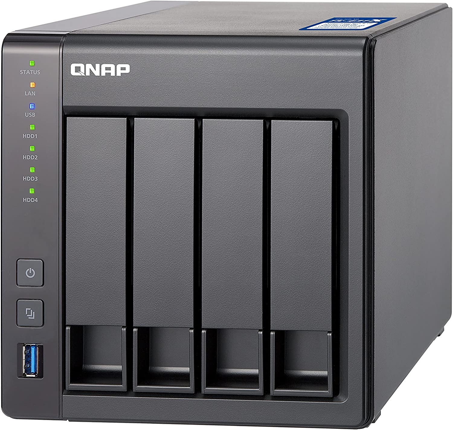 TALLA 16TB Western Digital Red Drives. QNAP TS-431X-8G/16TB-RED 4 Bay NAS -