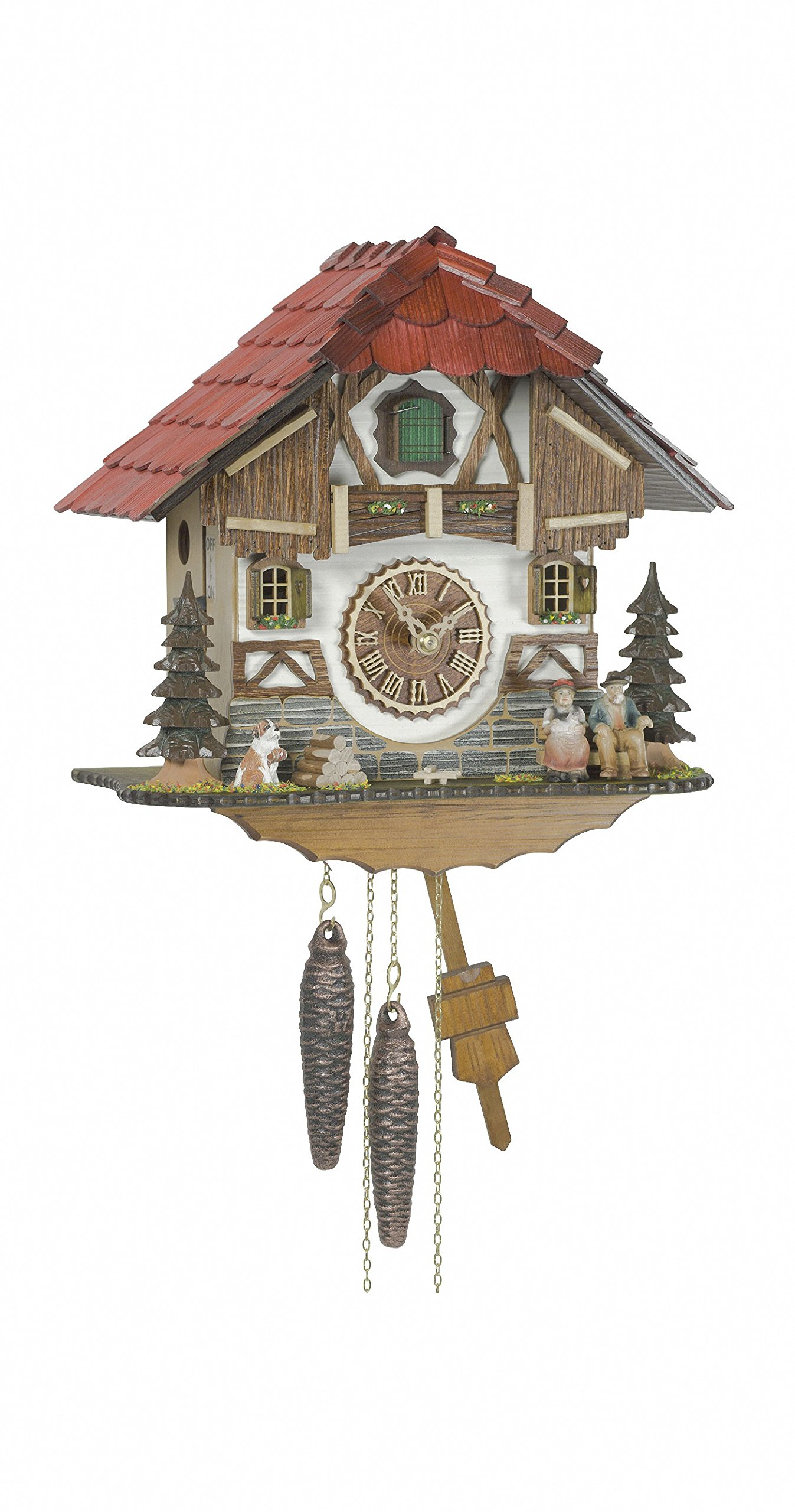 1 day running time cuckoo Clock Black Forest house by Trenkle Uhren