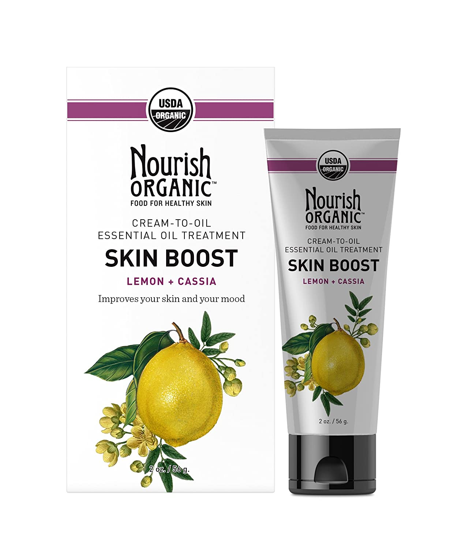 Nourish Organic, Skin Boost, Lemon + Cassia, 2 oz(pack of 3) Wet Ones Antibacterial Hands & Face Wipes, Citrus Scent, 20 Count Travel Pack (Pack of 10) 200 WipesВTotal