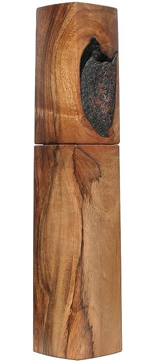 Woodandform Design Pfeffermühle Holz Unikat Walnuss: Amazon.de ...