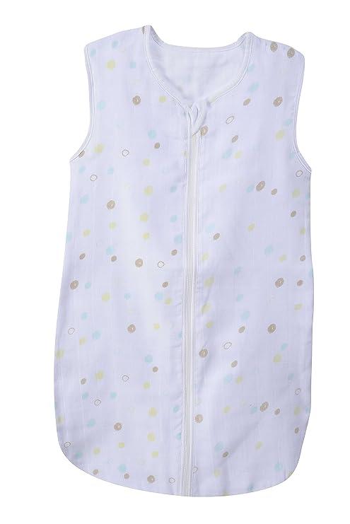PMP saco de dormir de verano (muselina Panda blanco/Aqua 65 cm 0 –