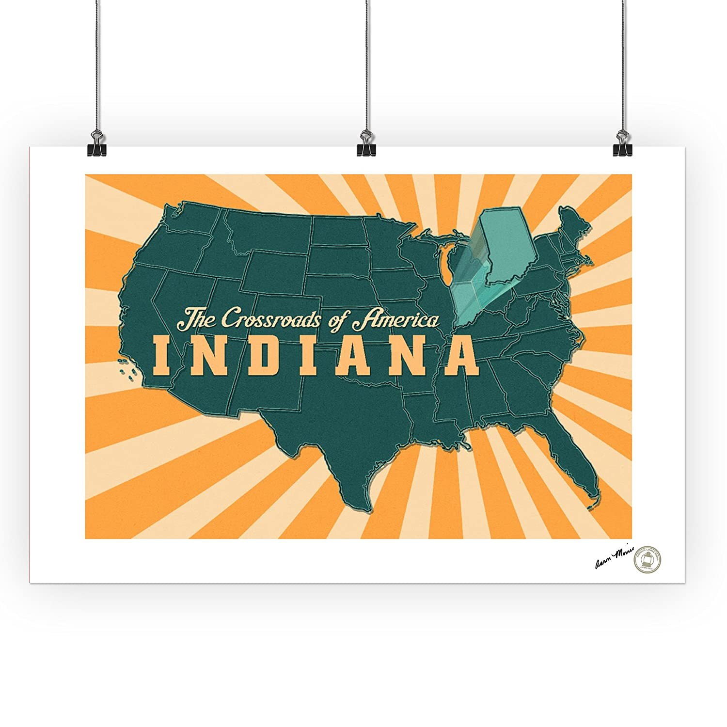 Amazon.com: Indiana - The Crossroads of America Map - Pop Out State on free printable missouri map, free printable idaho map, free printable oregon map, free printable kansas map, free printable michigan map, free printable navy map, free printable ohio map, free printable georgia map, free printable texas map, free printable illinois map, free printable washington map, free printable arkansas map, free printable tennessee map, free printable wisconsin map, free printable hawaii map, free printable maryland map, free printable nebraska map,