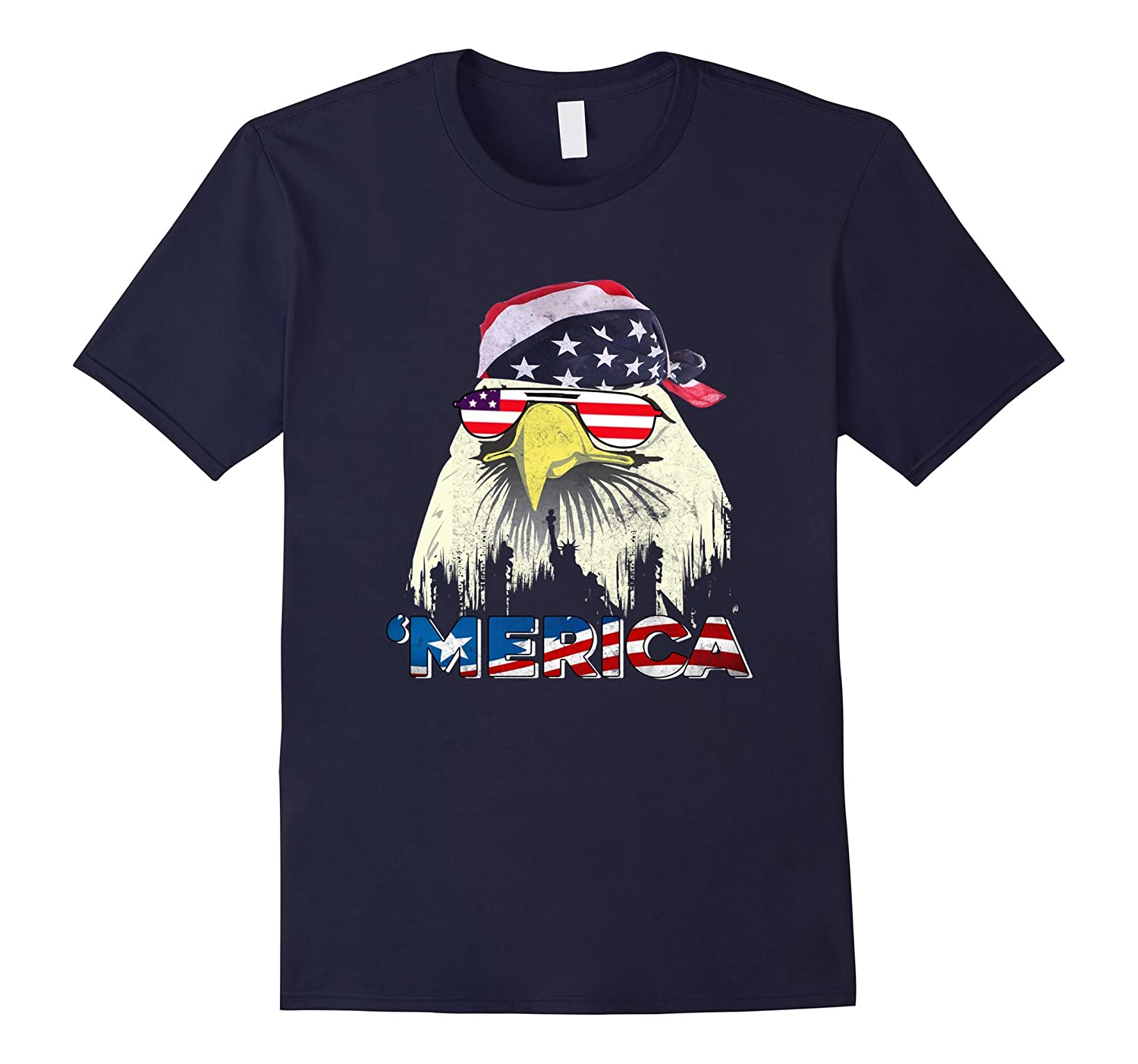 4th of july shirt - Usa pride merica mullet eagle t shirt-PL