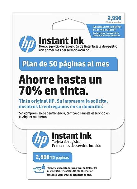 HP Instant Ink - Primer mes del servicio de reposición de tinta de HP, plan