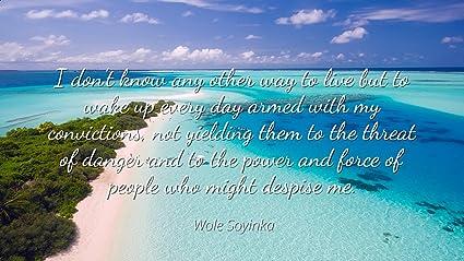 Amazoncom Wole Soyinka Famous Quotes Laminated Poster Print