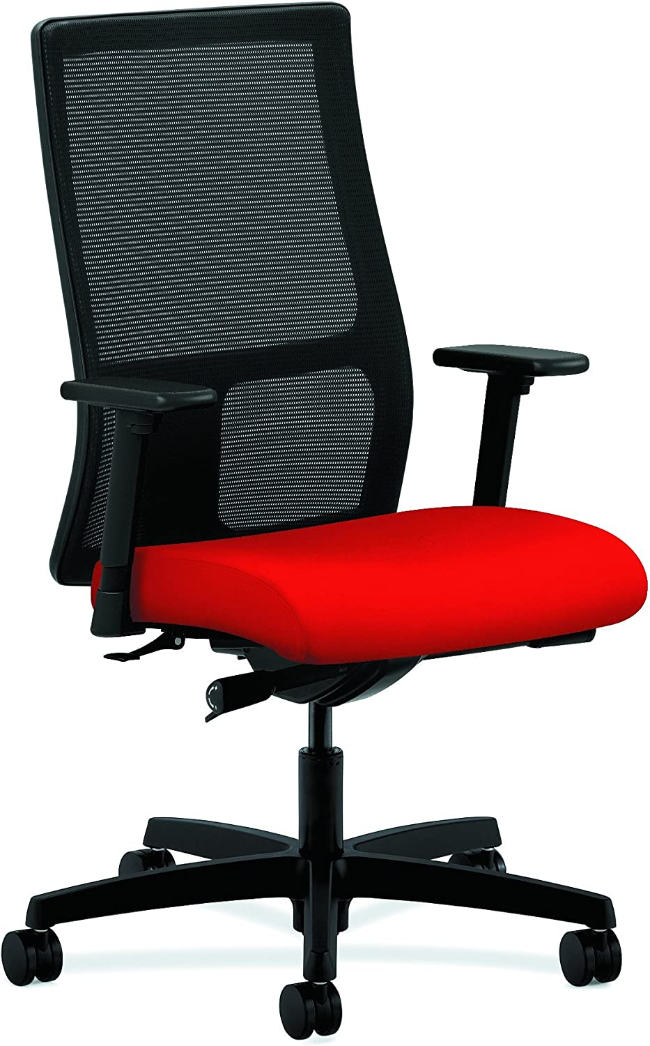 HON Ignition Series Mid-Back Work Chair – Mesh Computer Chair for Office Desk, Ruby HIWM2
