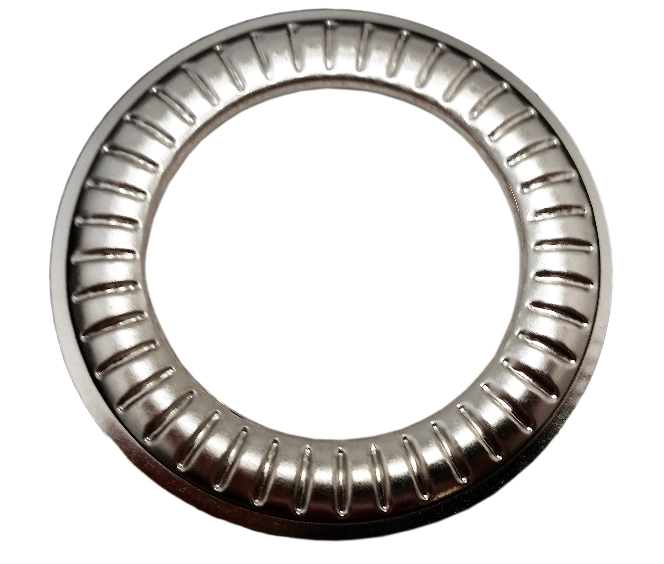 Large Nickel Design #11 Metal Curtain Drapery Hardware Supplies #12-1 9/16 inch Inner Diameter Decorative Grommet/Rings w/Washer Eyelet Lot of 10/25 / 50/100 pcs (Pack of 50) by Lushes Curtains