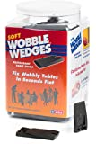 Wobble Wedge - Soft Black - Restaurant Table Shims - 300 Piece Jar