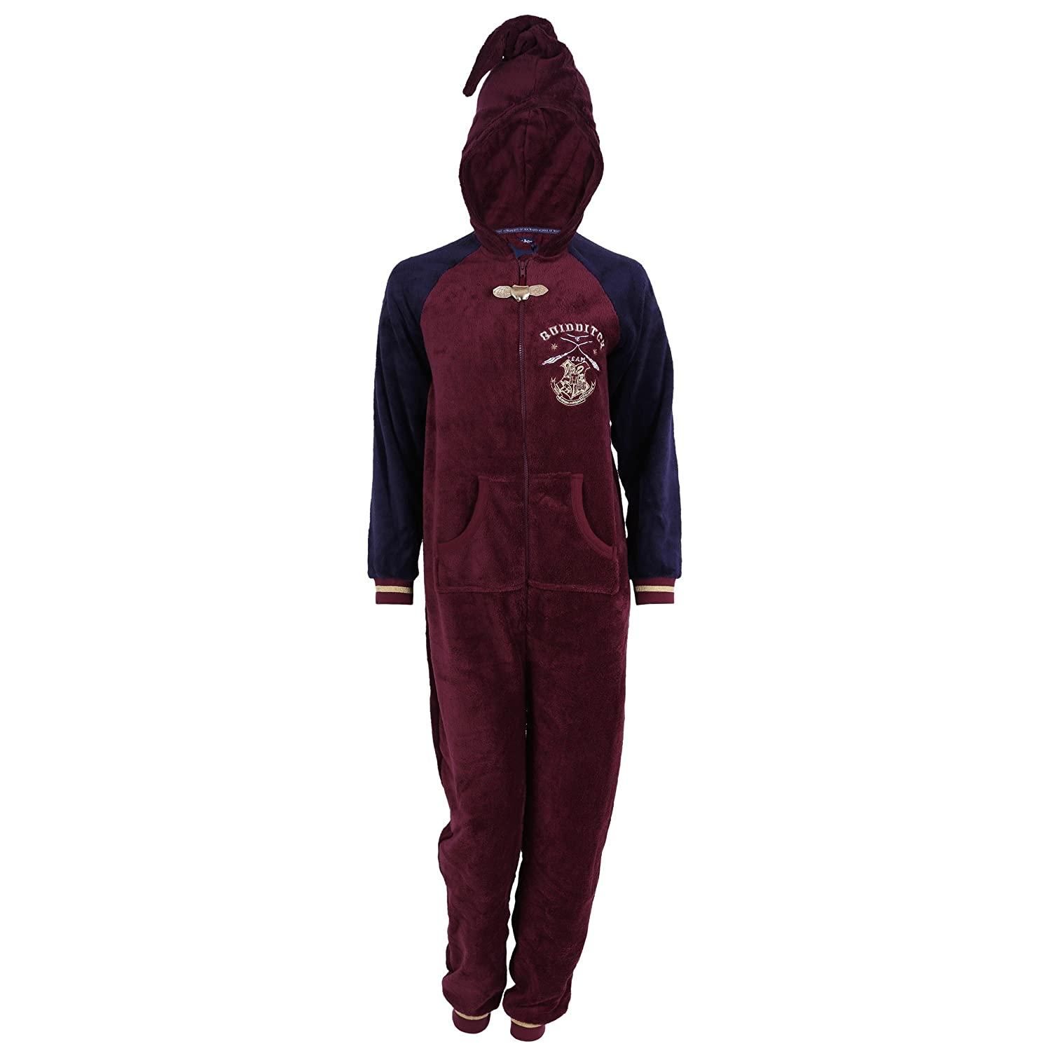 Burgundy, Pointed Hood, All in One Piece Pyjama, Onesie for Ladies Harry Potter Harry Potter - Hogwarts