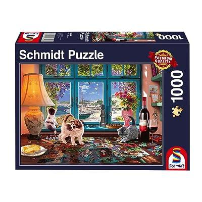 Schmidt Spiele Puzzle 58344 Am Puzzle Mesa, 1000 Piezas: Juguetes y juegos