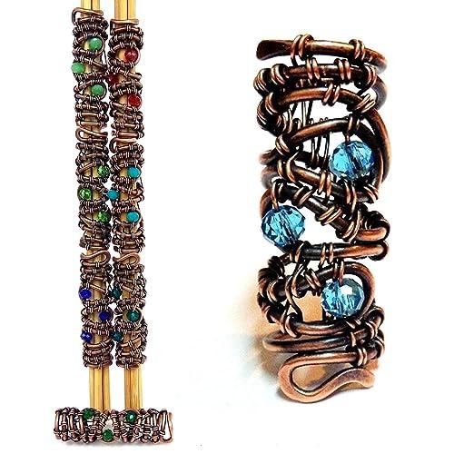 Jewelry of dreads copper aluminum wire