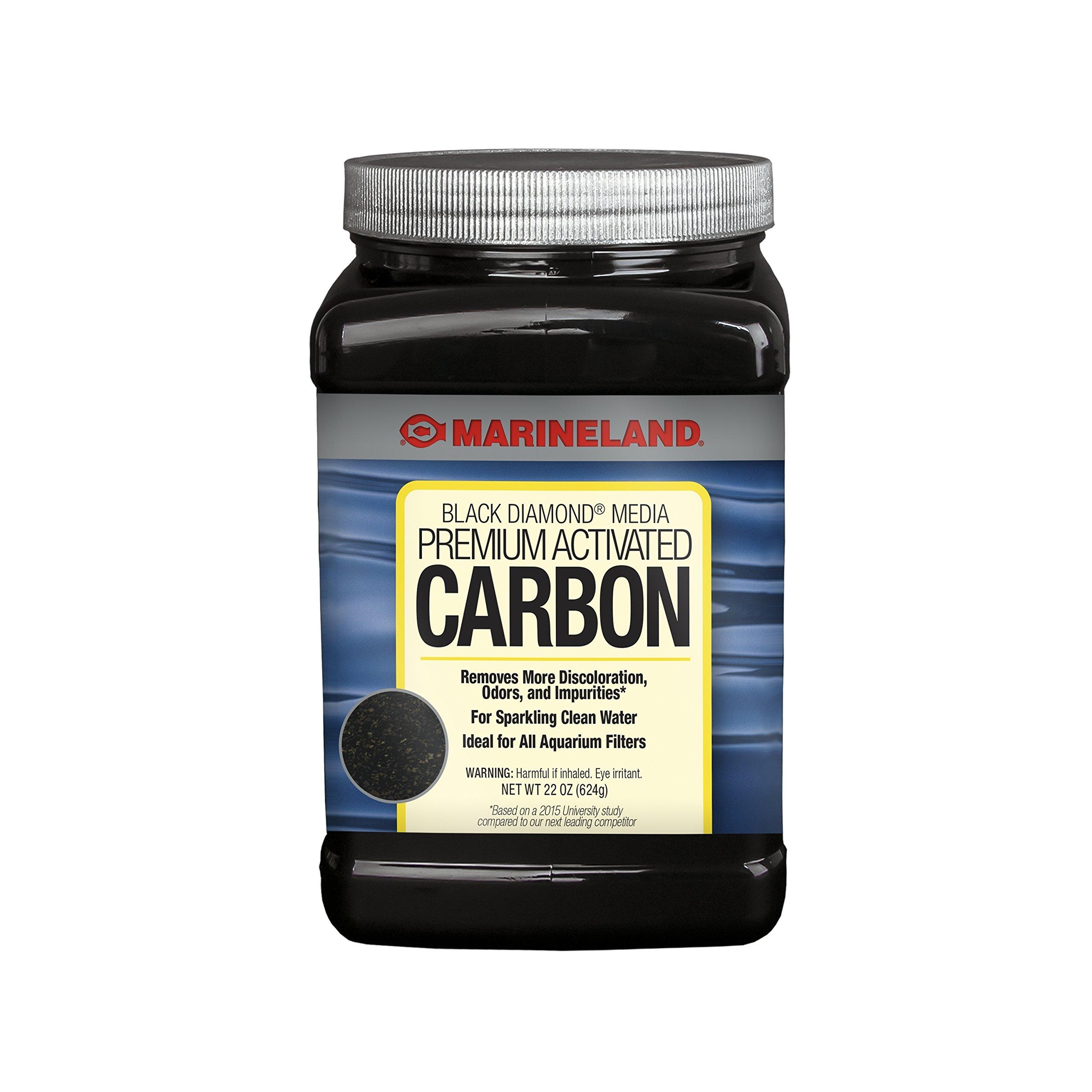 Marineland Black Diamond Premium Activated Carbon 22 Ounces, Filter Media For aquariums