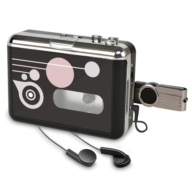 Rybozen Lecteur de Cassette Autonome Audio numérique USB Musique/Cassette vers MP3 Converter avec OTG Enregistrer sur clé USB/Pas de PC requis