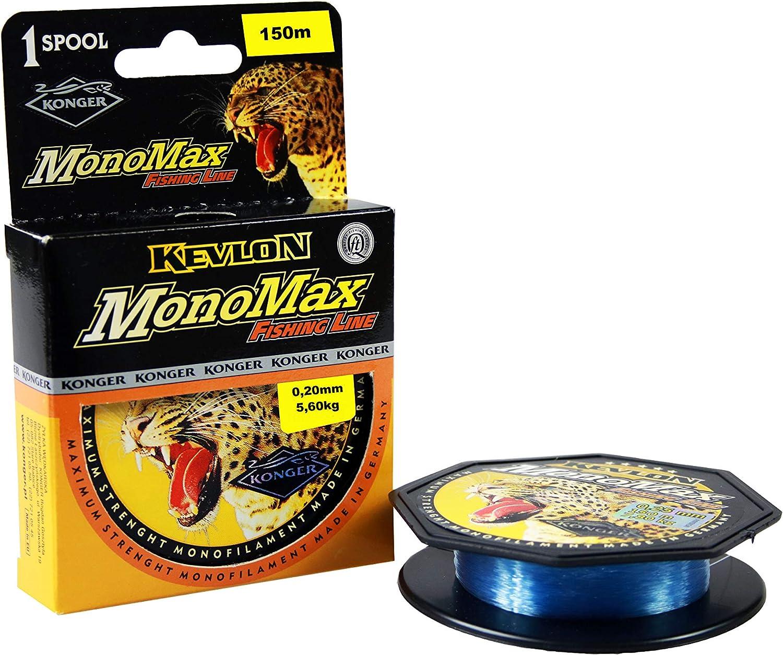 0,10 mm - 0,50 mm // 150 m, monofilamento Sedal de Pesca Konger Monomax