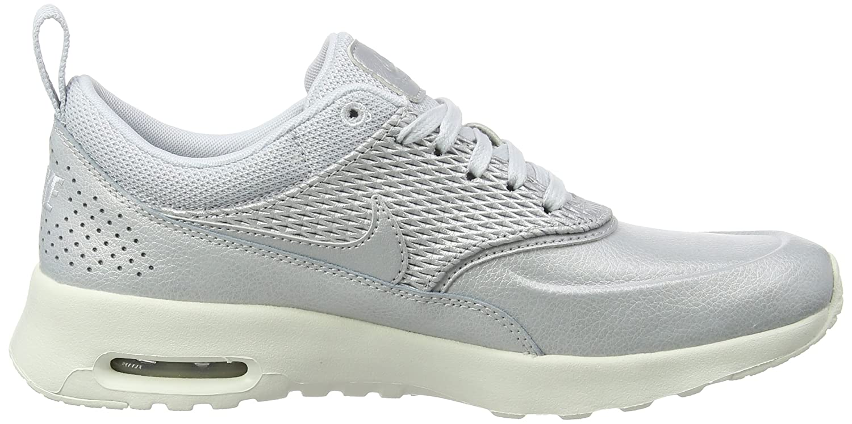 NIKE Damen Grau Air Max Thea Premium Leder Sneaker, Grau Damen (Metallic Platinum/Sail/Pure Platinum) 89f421