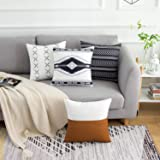DBoer 4 Pack Decorative Pillow Covers Throw Pillow Covers ONLY for Couch, Sofa, or Bed 18 x 18 Couch Pillowcase 45 x 45cm