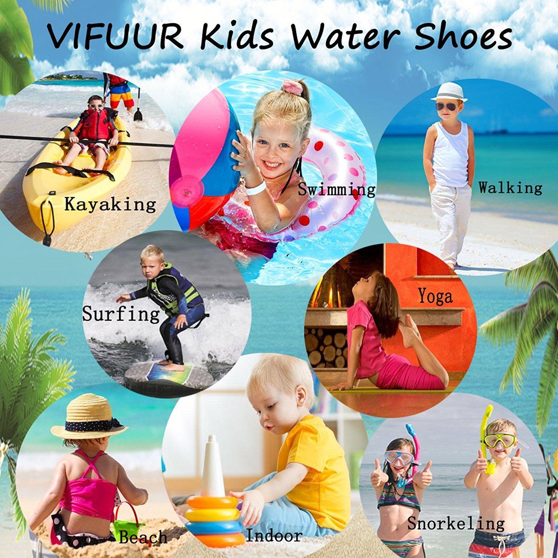 VIFUUR Kids Girls Boys Water Shoes Lightweight Barefoot Quick-Dry Aqua Yoga Socks for Beach Swimming KDeepSea 22/23 by VIFUUR (Image #7)