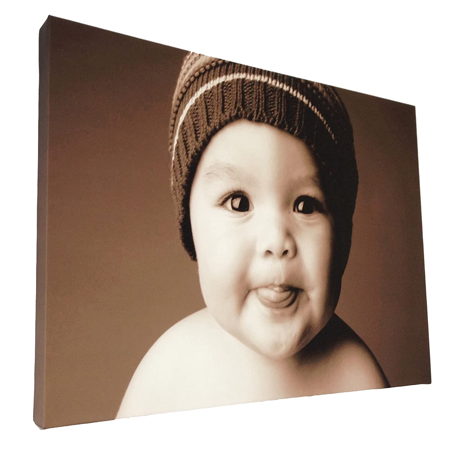 Your my photo picture on personalised wall canvas size A1 32x24 inch