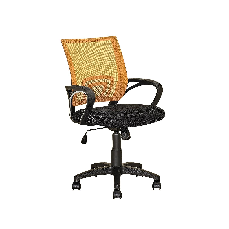orange CorLiving LOF-313-O Workspace Purple Mesh Back Office Chair
