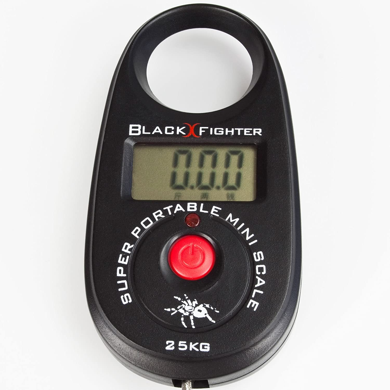 Traxis/Black Fighter Digitale Mini Fischwaage bis 25 Kg inklusive B