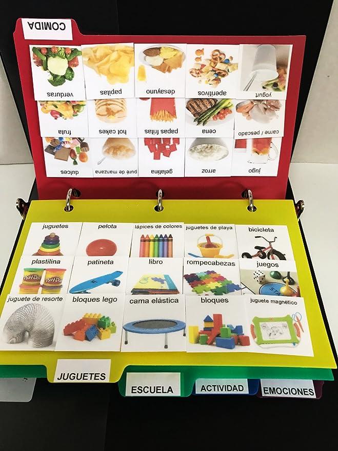 Amazon.com : ESPAÑOL PECS LIBRO para DISCURSO, IDIOMA, COMUNICACIÓN, ABA, Y HABLA : Office Products