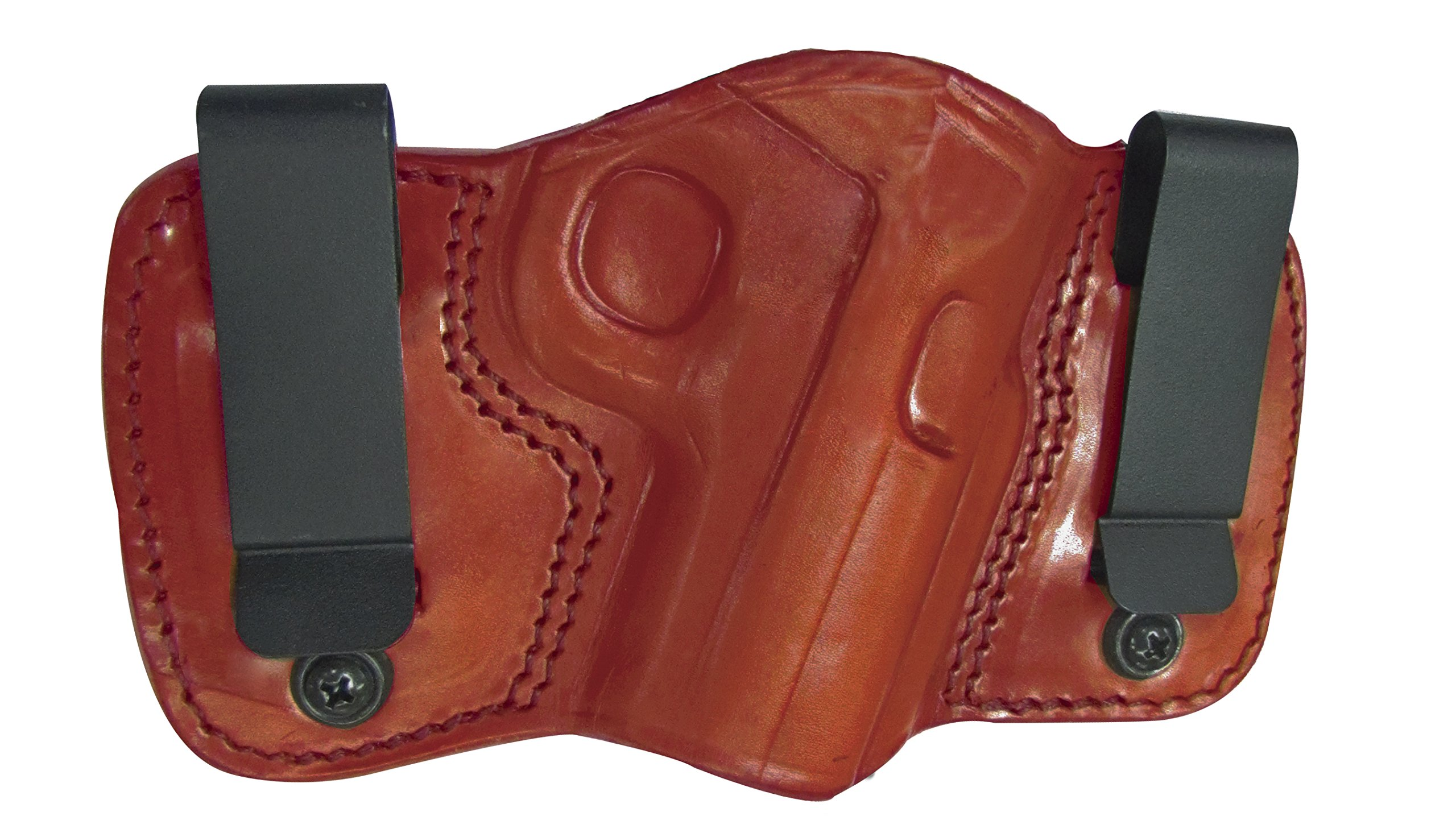 Tagua DCH-333 Dual Clip Holster, Glock 26-27-33, Brown, Left Hand