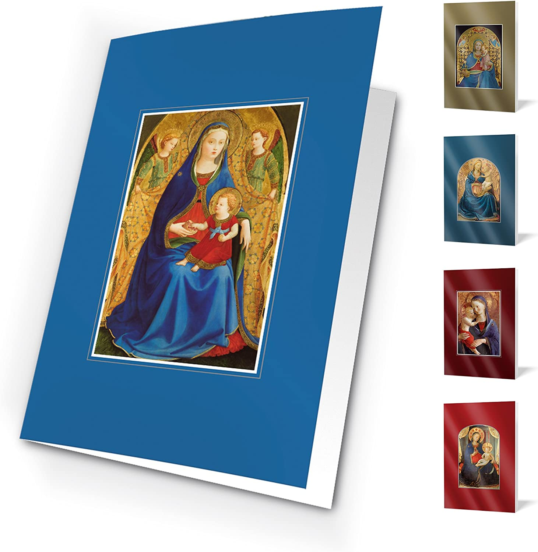 Felicitaciones Navidad Unicef - Pack de 10 tarjetas Madonas: Amazon.es: Oficina y papelería
